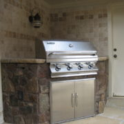 grill and custom stonework