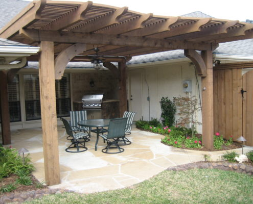arbor and patio