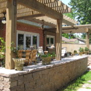 paver patio wall