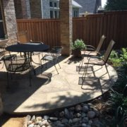 backyard patio and landscape