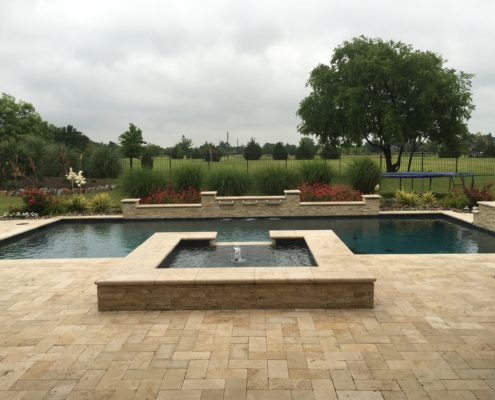 pool and backyard landscape
