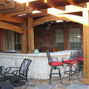 outdoor kitchen & pergola