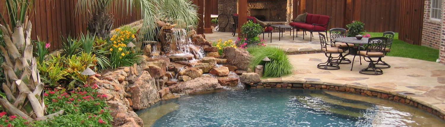 Pool Landscapes Stewart Lawncare Landscape Wylie Texas